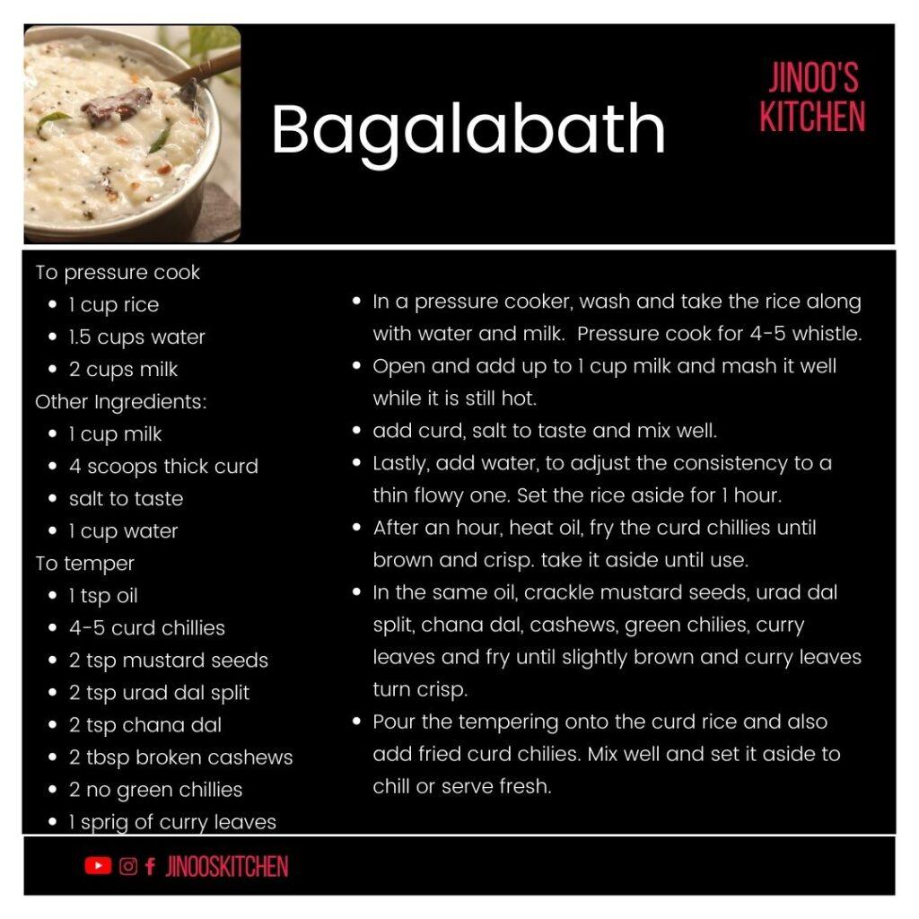 bagalabath recipe card