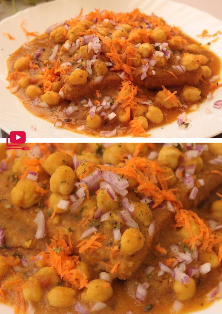 Bread Channa chaat recipe ( Chole Bread snacks)