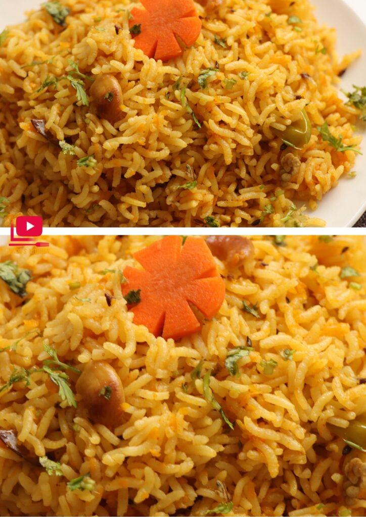 Carrot rice recipe Carrot rice | carrot cashew rice