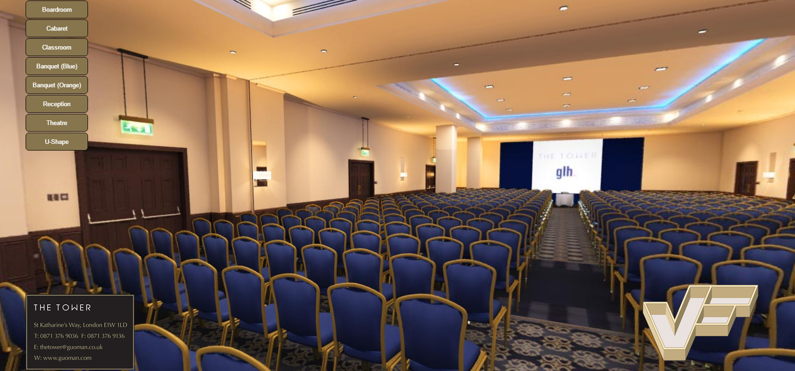 The Tower Hotel - Tower Suite - Theatre set-up