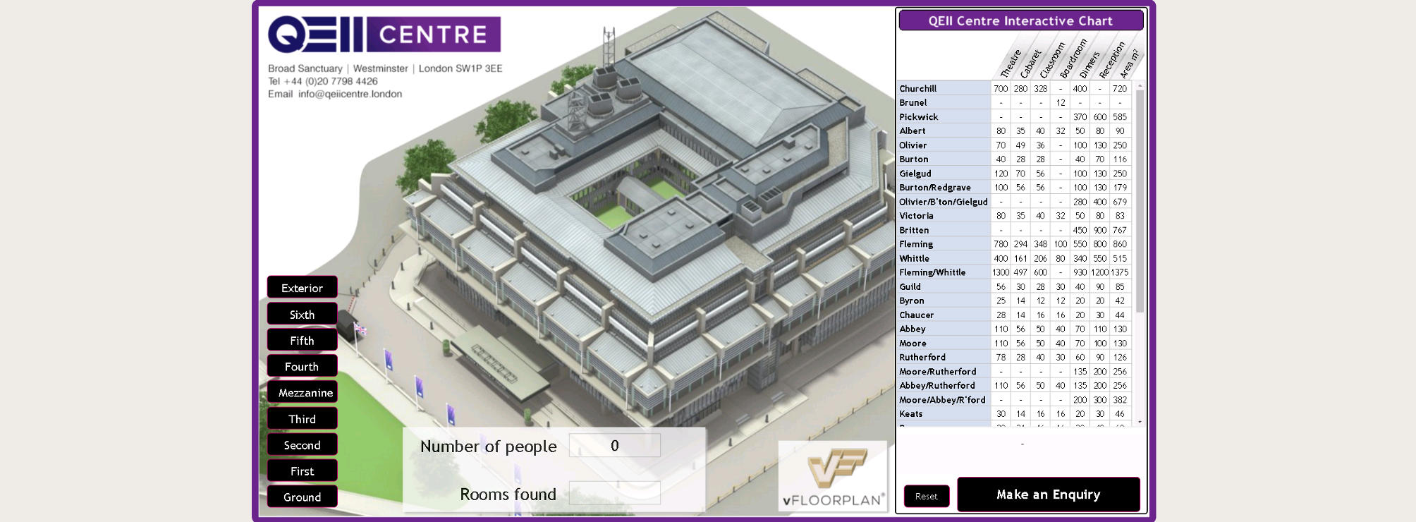 QEII Centre vFloorplan