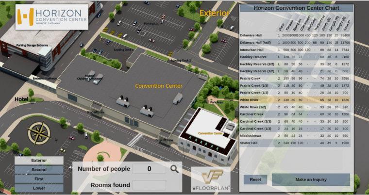 vFloorplan 3D - Horizon Convention Center