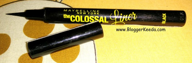 Maybelline The Colossal Liner in Black Review N Swatches - 07