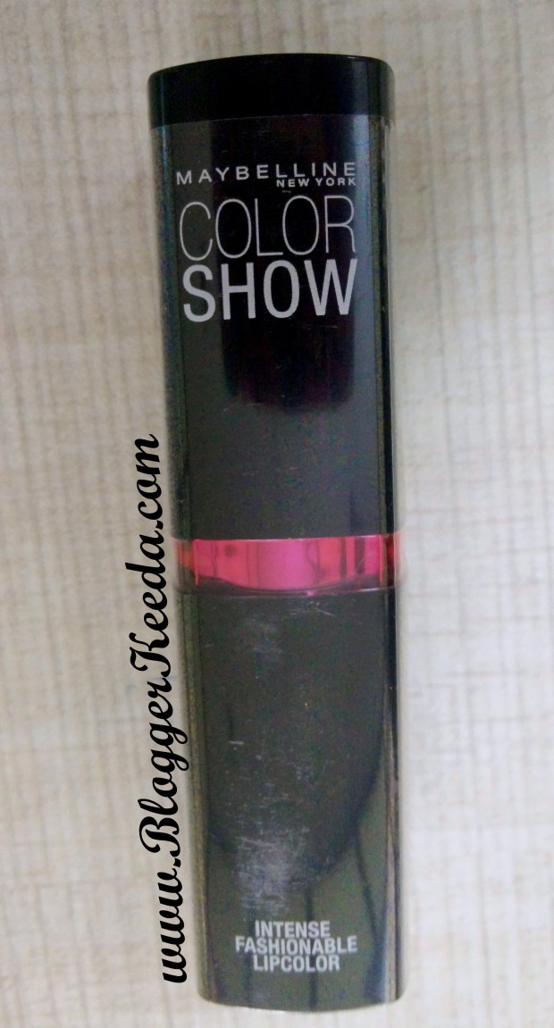 Maybelline Color Show Lipstick Shade 115 Bling Pink Review 01