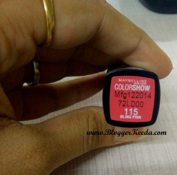 Maybelline Color Show Lipstick Shade 115 Bling Pink Review 03