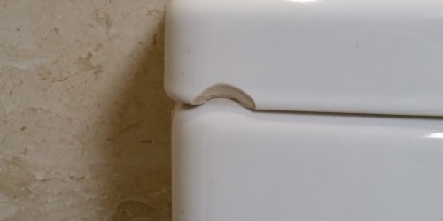 chipped cistern