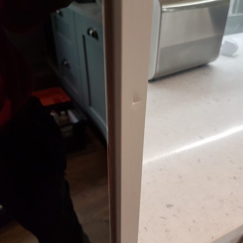 Kitchen Cupboard chipped end panel repairs