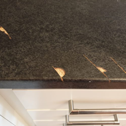 BADLY DAMAGED WORKTOP REPAIR MANCHESTER