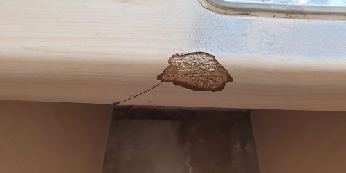 CHIP DAMAGE SCRATCH KITCHEN WORKTOP REPAIR BEFORE