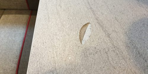 DAMAGED CHIP SCRATCH DENT MOTOR HOME CARAVAN WORKTOP REPAIR