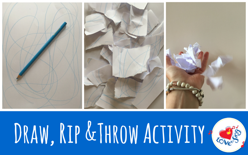 Draw, Rip and Throw Activity