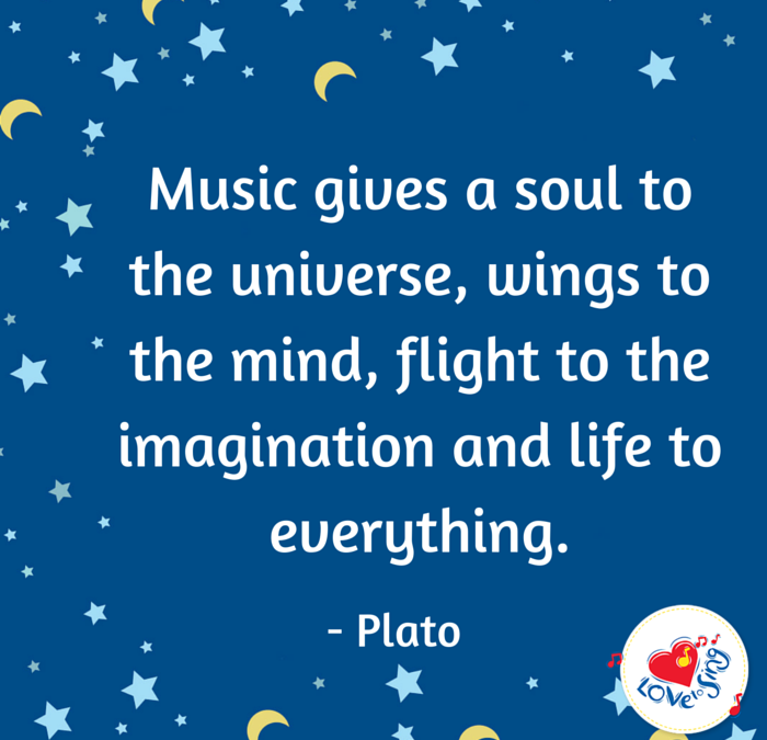 Music Gives a Soul to the Universe