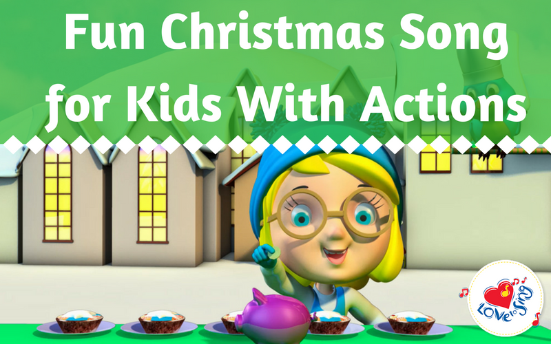 Fun Christmas Song for Kids With Actions
