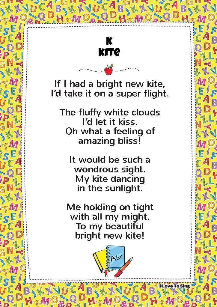 K Kite Phonics Song Free Video Song Lyrics Activities