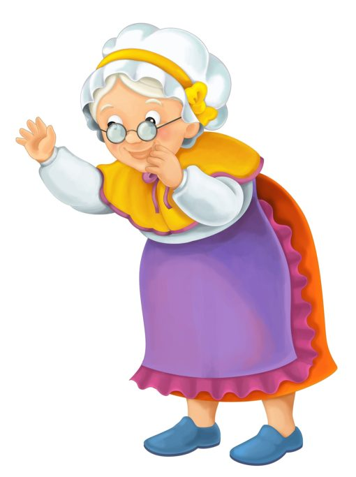 Cartoon older woman – illustration for the children