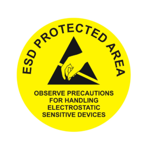 ESD Protected Area – Round Sign