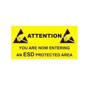 Entering ESD Area – Rigid Sign