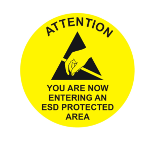 Entering ESD Protected Area – Round Sign