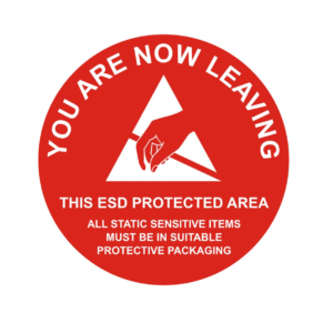 Leaving ESD Protected Area – Round Sign