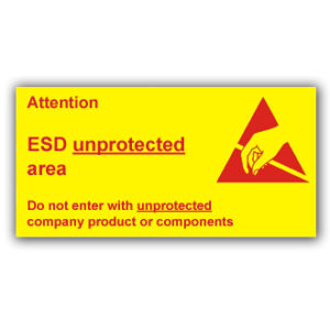 Unprotected Area Sign