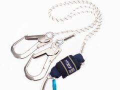DBI SALA EZ-Stop 2M Twin Leg Shock Absorbing Rope Lanyard with Scaffold Hook 1245545