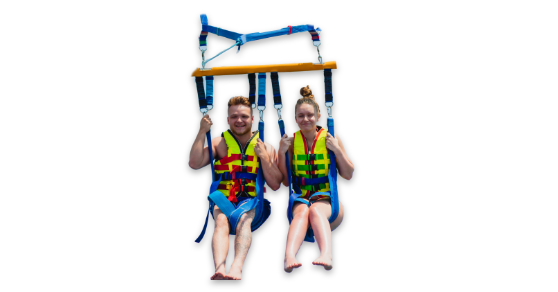 Two People Parasailing
