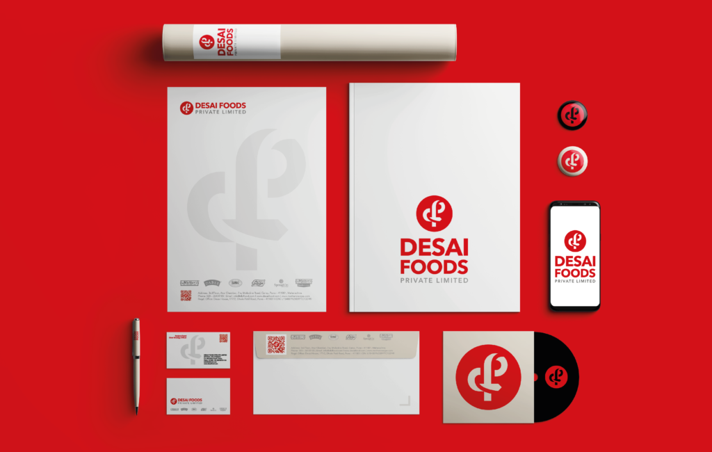desai foods new identity design