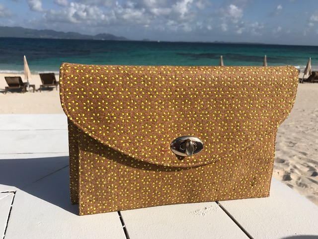Yellow Floral Clutch, Lunch at the Reef Anguilla
