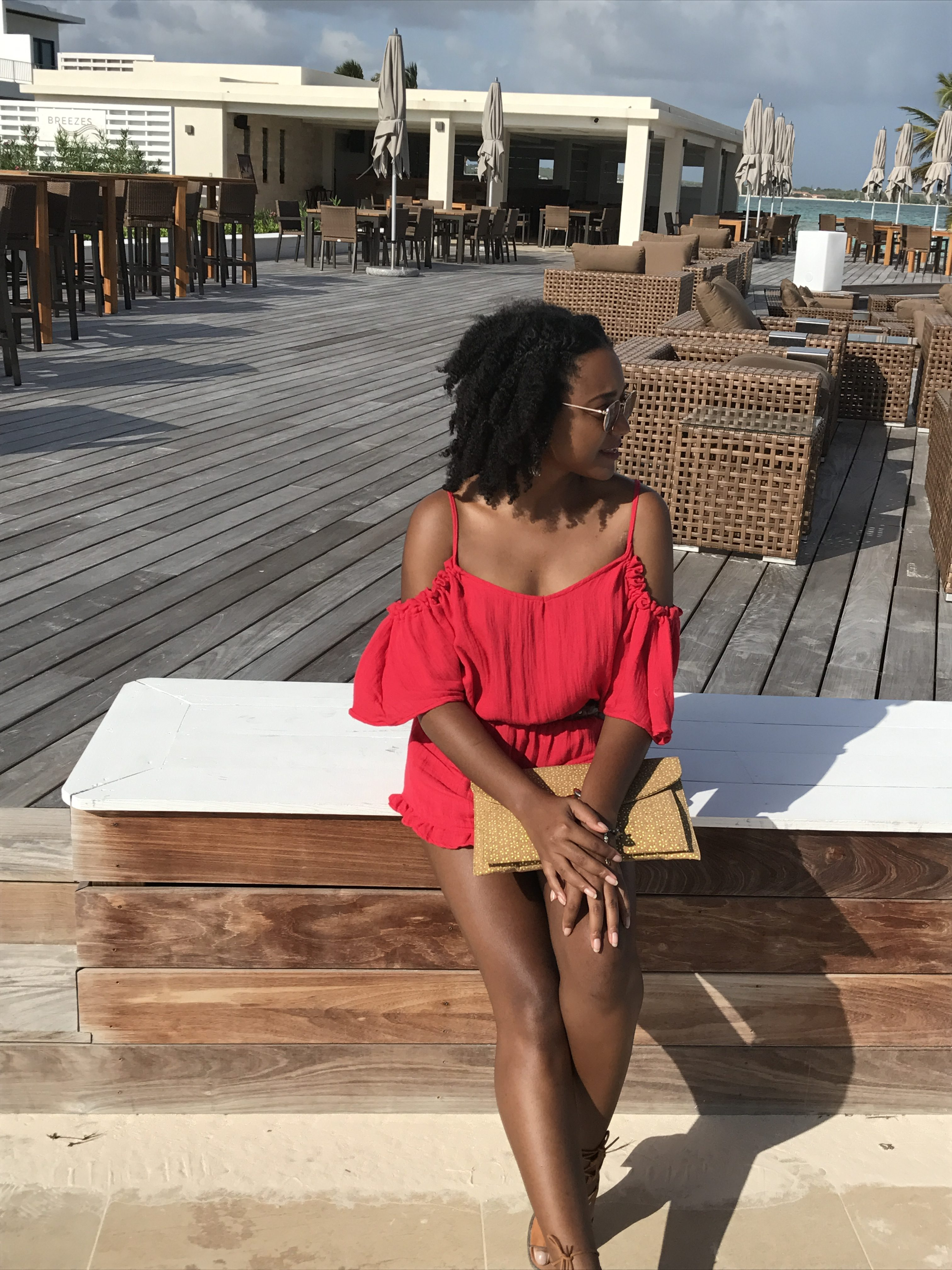 Red Romper - Lunch at The Reef Anguilla