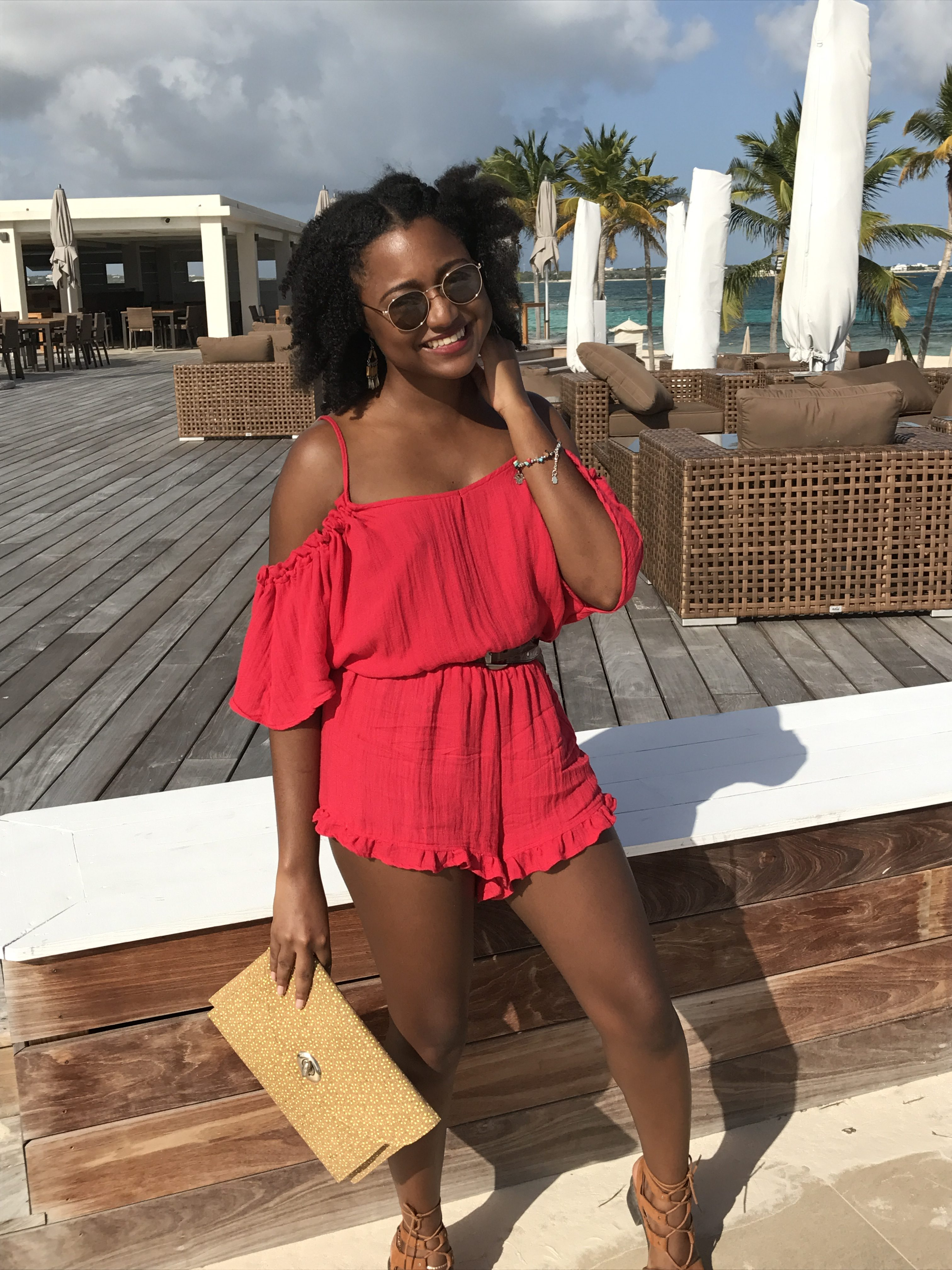 Red Romper, Lunch at The Reef Anguilla