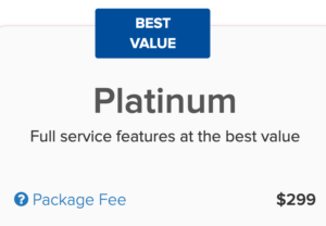 Price to form an LLC with Incfile's Platinum plan