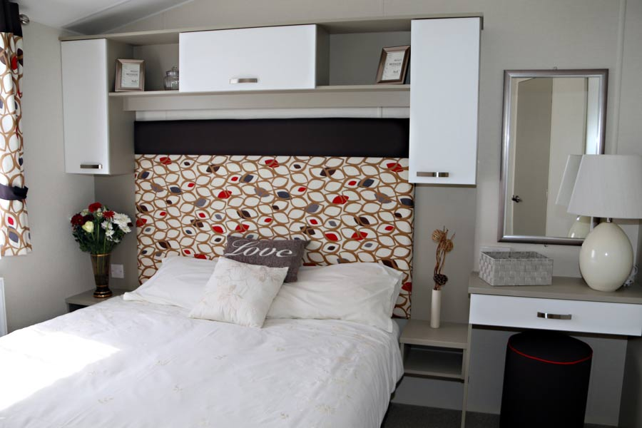 Main bedroom with a King size double domestic sprung bed.