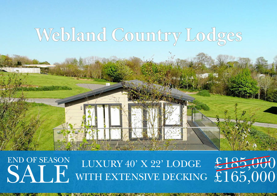 2 bedroom luxury lodge at Webland Farm - special offer