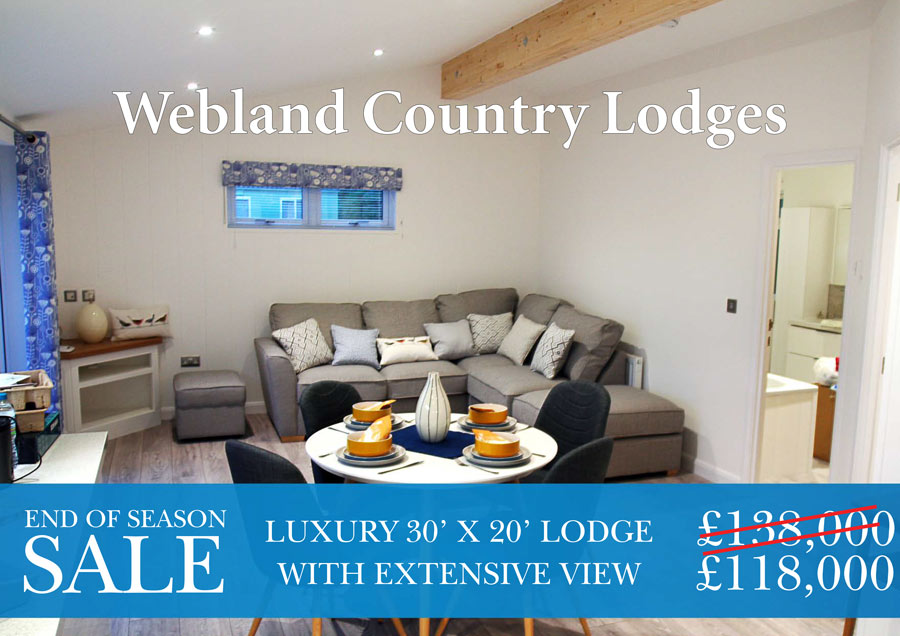 1 bedroom luxury lodge at Webland Farm - special offer