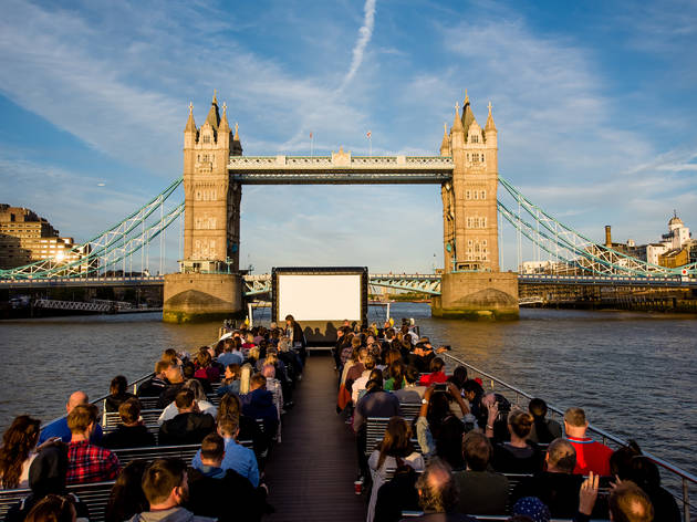 Londons first floating cinema on the Thames