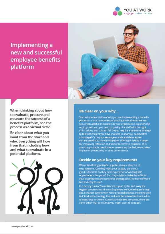 Implementing an employee benefits platform