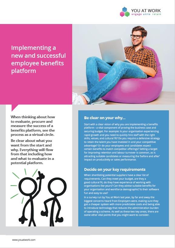 Implementing an employee benefits platform