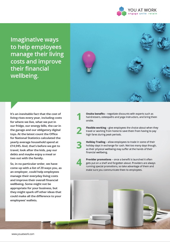 Helping employees with their everyday living costs
