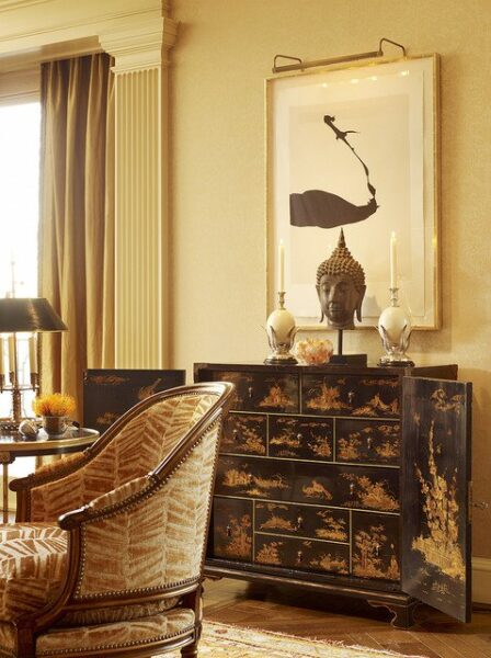 Gold Color Interior Design