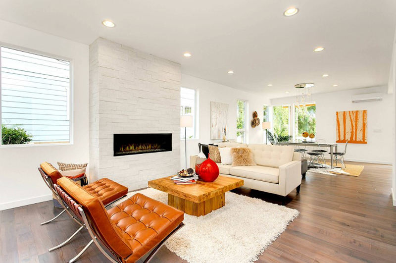 Living Room Designs With Brown Leather Chairs