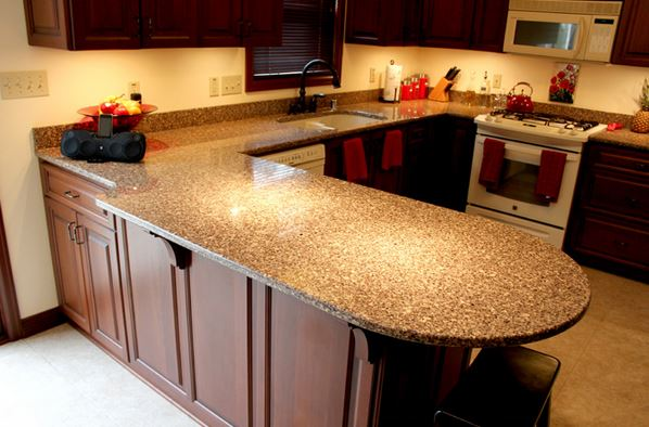 Lovely Kitchen Design With Granite Countertops 1