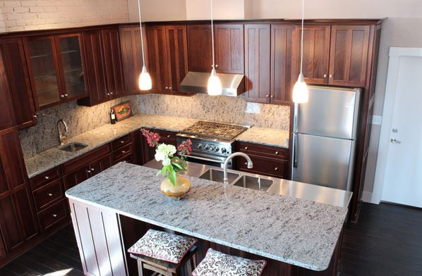 Lovely Kitchen Design With Granite Countertops 4
