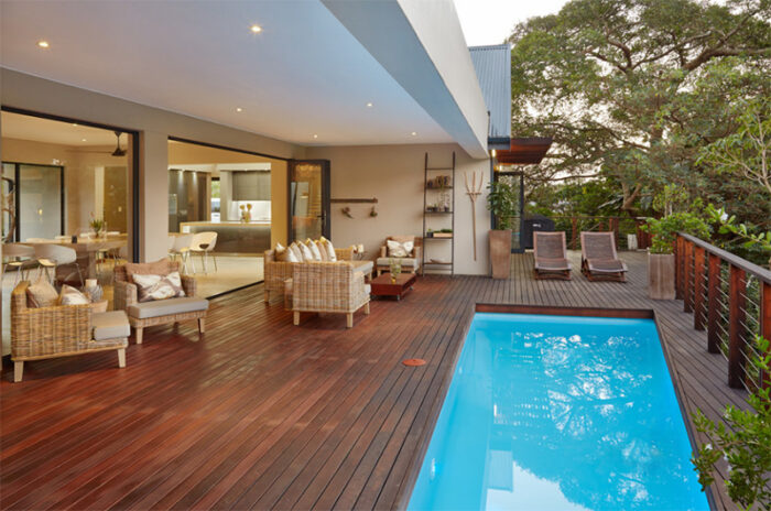 Modern Swimming Pools With Wooden Decking Interiordesignsweb Com