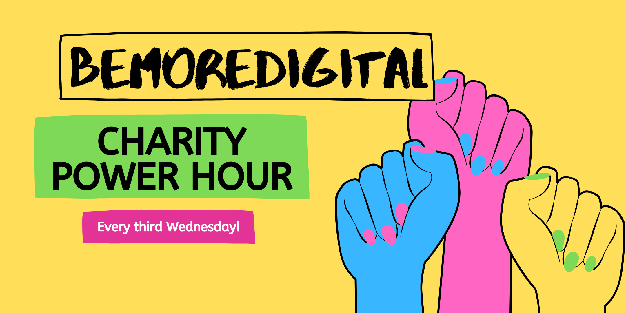 The Charity Power Hour - event banner