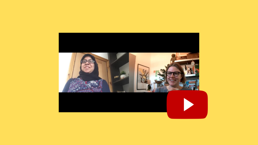 Still from Buddy Chat with Tahera Mayat (Charity Hour on Twitter)