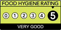 5 Star Food Hygiene Rating from Waverley Borough Council