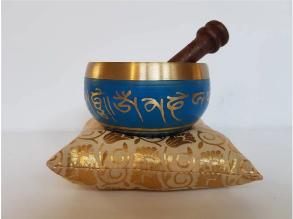 Blue Yoga Singing Bowl