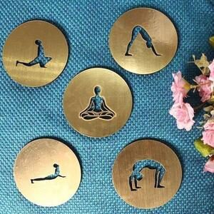 Yoga Coasters with Pose