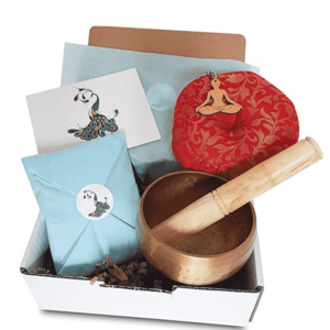 Yoga Gift Hamper 4 piece with singing bowl