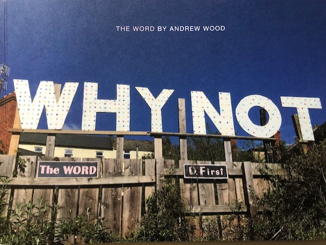 Artist Andrew Wood and his 'word art'.